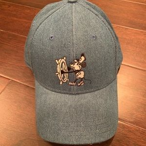 Denim Steamboat Willie hat